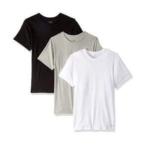 Calvin Klein 男士黑白灰T恤3件套促销