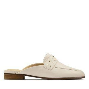 码全白色穆勒鞋