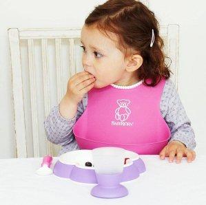 $24.7BABYBJORN Soft Bib 婴幼儿防漏食物围嘴2只装 粉色和绿色