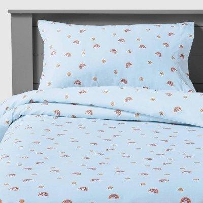 Pillowfort™ 彩虹图案超柔微纤床具套装