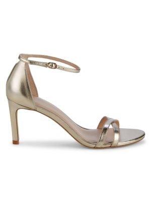 金属色高跟鞋