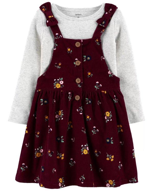 小童T恤+背带裙套装