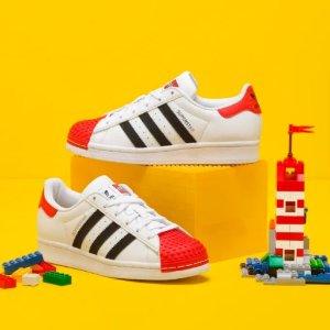 第2件半价+包邮adidas官网 正价款童装童鞋促销, 封面LEGO联名款$80