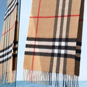 $299+免税包邮 官网$430独家:Burberry 经典英伦风羊绒围巾热卖