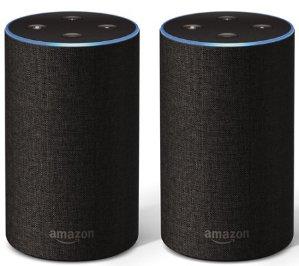 Amazon Echo 2nd Generation Speaker 2-Pack with Voucher