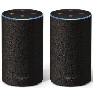$99.98Amazon Echo 2代智能音箱 2只装