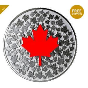 $29.95 包邮2018 Hearts Aglow 夜光纯银币 皇家铸币厂生产