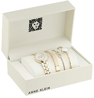 From $49.99 Anne Klein Women's Swarovski Crystal Watch and Bangle Sets