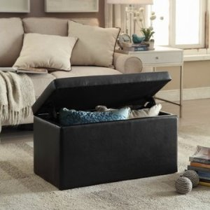 $29 Better Homes & Gardens 30-Inch Hinged Storage Ottoman, Sand