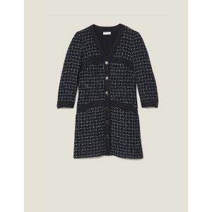 SandroShort Tweed Coat Dress