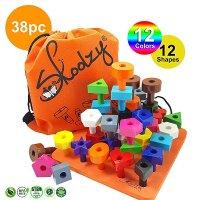 Skoolzy 蒙特梭利学龄前儿童玩具,38个零件