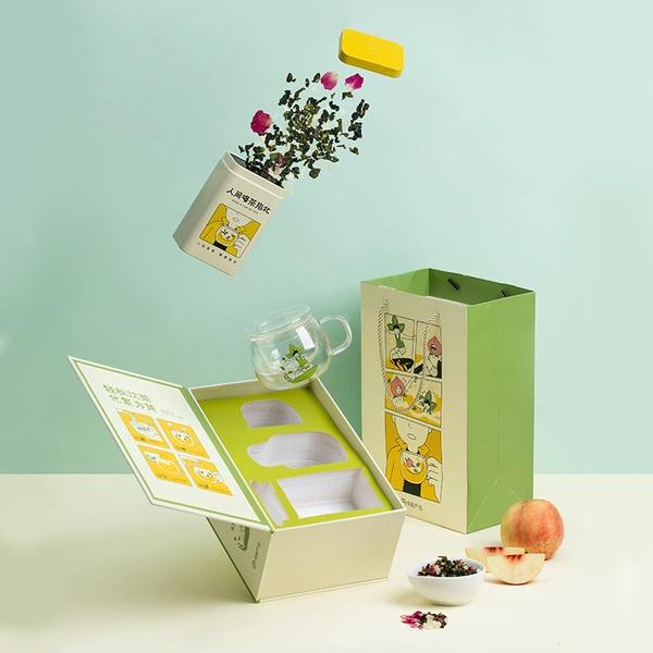 蜜桃乌龙茶 + 设计款茶具礼盒套装