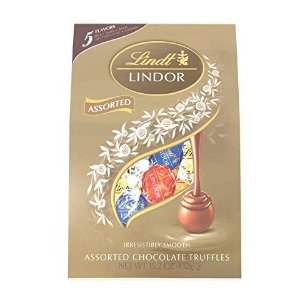$9.98 Lindt LINDOR Assorted Chocolate Truffles, Kosher, 15.2 Ounce Bag