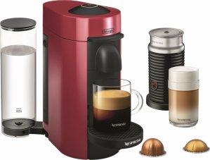 $118.99Nespresso 意式浓缩咖啡机+奶泡机 樱桃红