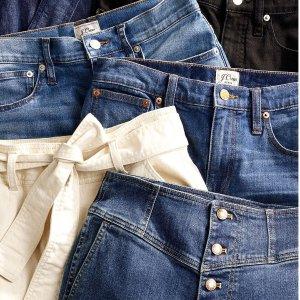 低至3折+额外4折 好价回归折扣升级:J.Crew Factory 清仓大促 小香风拼色渔夫鞋$16,短裤$8