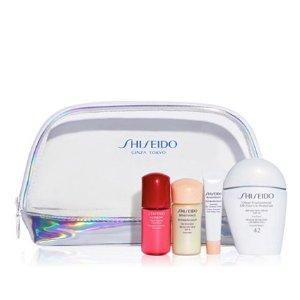 $48 (价值$102)+送小样Shiseido资生堂四件套小白瓶套装