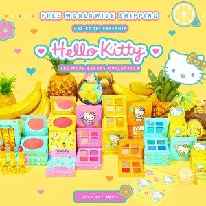 $12收四色眼影+限时包邮!上新:Colourpop x Hello Kitty 联名彩妆来袭 缤纷夏日水果元素