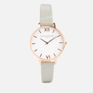 £46.4OLIVIA BURTON WOMEN'S WHITE DIAL WATCH - GREY/ROSE GOLD