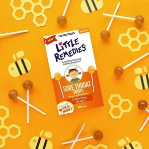 $3.60 Little Remedies Sore Throat Pops, 10 Count