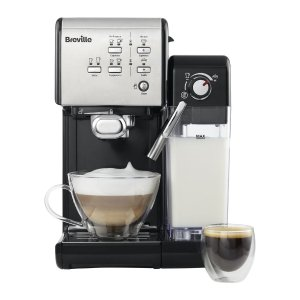 Breville 一键式VCF107咖啡机-黑银色