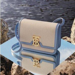 满额低至7.4折即将截止:Burberry 时尚专场 手机包$460,收封面款TB盒子包