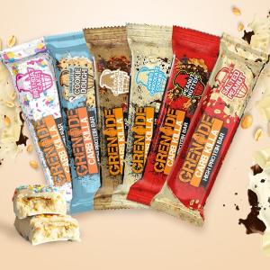 无门槛7.5折 £1.94/根 比超市便宜Grenade 低脂、低糖乳清蛋白棒 选用比利时巧克力 英超热销