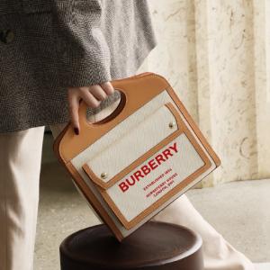 低至4折 €135收logo卡包Burberry 年中最给力 爆款双肩包、TB豆腐包、托特包都折扣