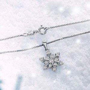 $16.99(原价$35.99)J.Rosée 925纯银雪花项链 带着浪漫雪花一起过冬天