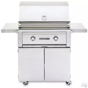 Lynx L500PSFLP 30 Inch Freestanding Gas Grill with 46,000 BTU, 733 sq. in., LED and Halogen Illumination, Stainless Steel Grilling Grates, Ceramic Briquettes and Spark Ignition: Liquid Propane