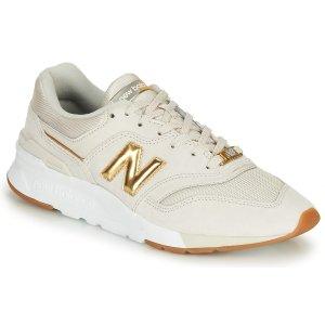 New Balance997 米色金logo运动鞋