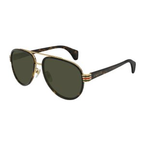 Gucci 0447 Aviator Sunglasses