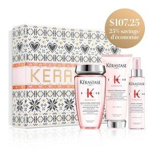 Kerastase针对脆弱发质,减少断裂修复发丝防脱发洗护3件套