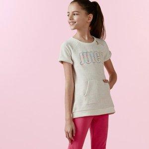 低至1.4折+免邮 夏款套装上新Juicy Couture儿童服饰热卖 做个粉嫩的小公举