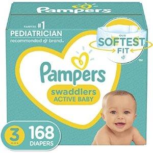 Swaddlers 婴儿尿不湿 3号 168片