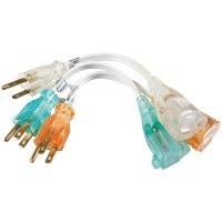Coleman Cable 8寸电源延长线 3个 插线板救星
