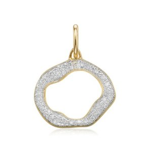Riva Circle Diamond Pendant Charm | Monica Vinader