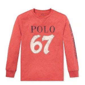 低至$6.49Ralph Lauren 儿童服装特卖,T恤$6.49,卫衣$13.99