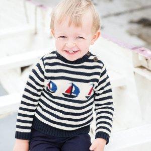 8折 打造经典潮宝宝最后一天:JoJo Maman Bébé 婴幼童海军风系列服饰特卖
