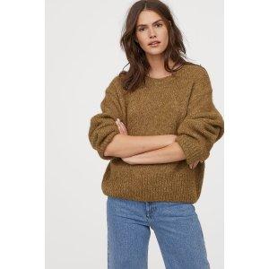 H&M女士含羊毛毛衣