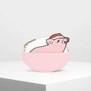 低至85折!£21凑单收封面款零钱包小CK 新年美包美鞋上新 猪年系列再添小萌猪