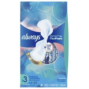always3码液体卫生巾 28片