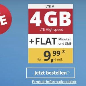 月租€9.99 代号入网送10欧限时特价 包月电话/短信+4GB高速流量+欧盟漫游