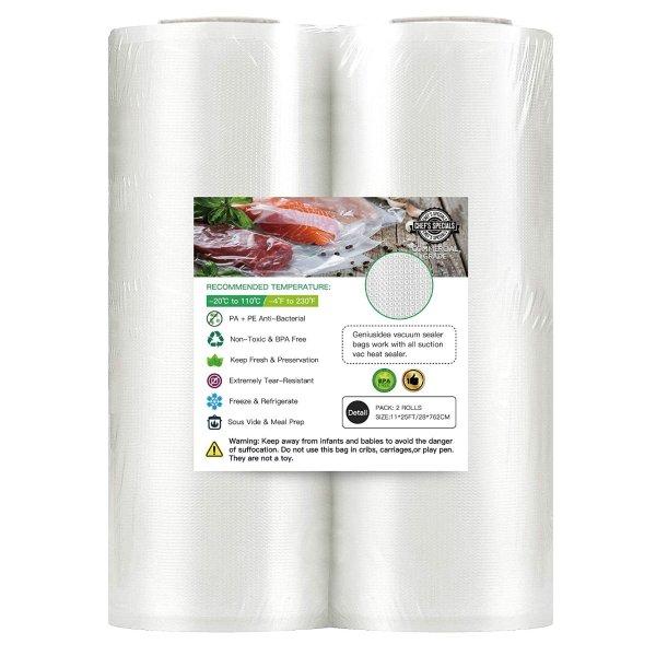 Geniusidea 大号真空密封袋 可重复使用 食品冷冻储存必备