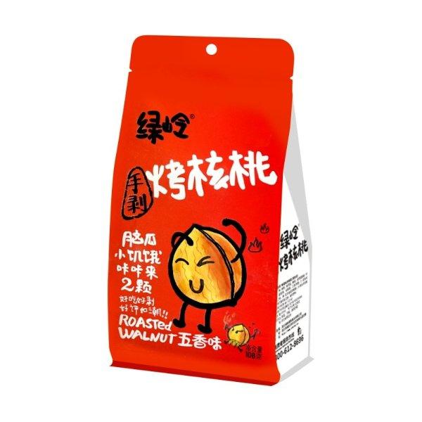 绿岭 烤核桃 五香味 108g