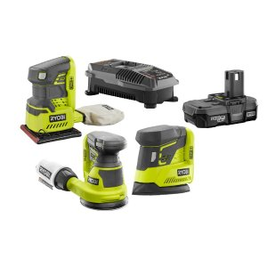 $99RYOBI 18-Volt ONE+ Cordless Lithium-Ion 3-Tool Sanding Combo Kit with (1) 1.3Ah Battery and Charger