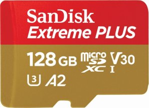 SanDisk - Extreme 128GB microSDXC UHS-I Memory Card