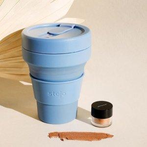 8折起 €13.99收封面同款Stojo 喝水神器 Ins风可折叠随行杯 时尚又环保 欧阳娜娜同款
