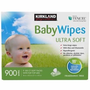 $15Kirkland Signature Baby Wipes 900-count