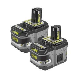 $139Ryobi 18伏超大9.0Ah容量电池 2块