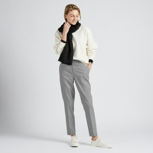WOMEN EZY HOUNDSTOOTH ANKLE-LENGTH PANTS   UNIQLO US